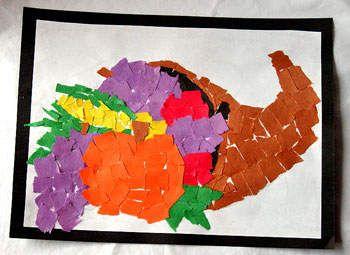 Fall crafts for kids: Cornucopia mosaic - Salt Lake City Parenting | Examiner.com