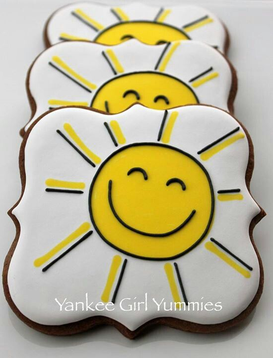 Happy sunshine #cookies https://cookiecutter.com/square-plaque-frame-cookie-cutter.htm