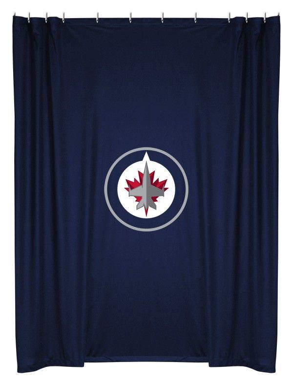 Winnipeg Jets NHL Bathroom Shower Curtain