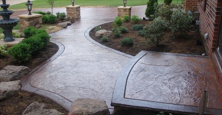 textured-walkway-brown-landscaping-j-h-concrete