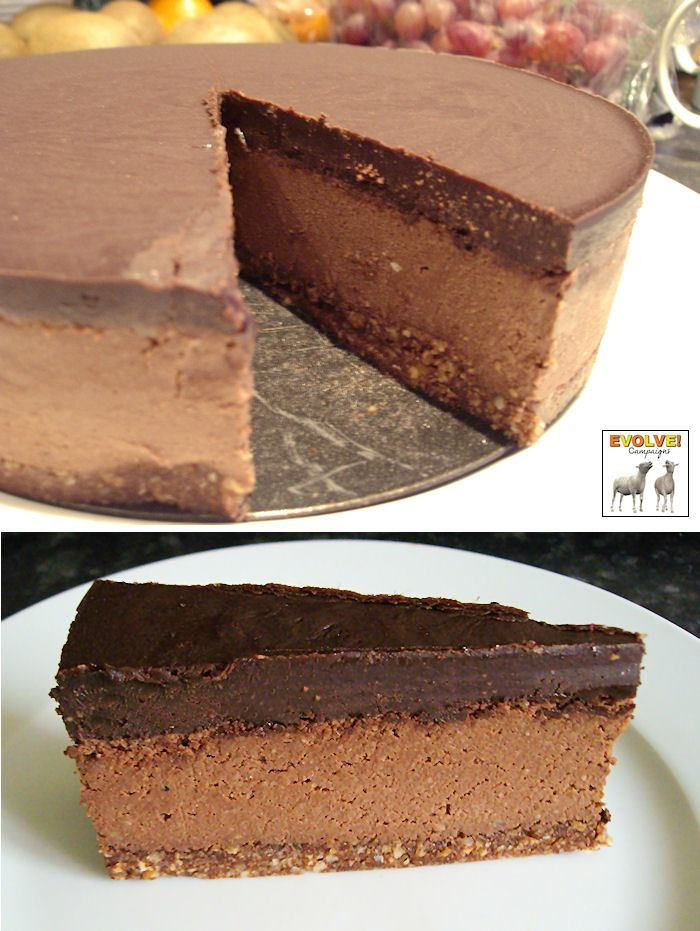 (Almost) Raw Chocolate and Hazelnut Vegan Cheesecake - VeggieBoards - A Vegetarian Community