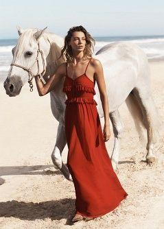 Crochet long dress - Dresses - Women - MANGO