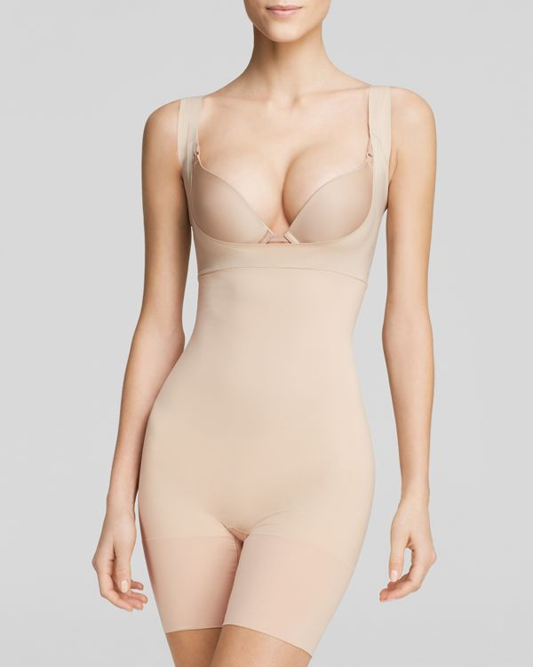 Spanx Bodysuit - Shape My Day Open Bust Mid-Thigh #SS5615