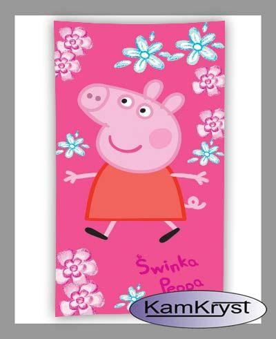 Cotton towel for children with Peppa Pig 75 x 150 cm KamKryst   Ręcznik bawełniany dla dzieci ze Świnką Peppa 75 x 150 cm KamKryst #peppa #peppa_pig #peppa_pig_towel