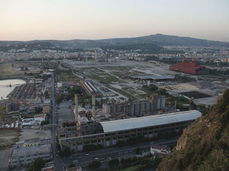 A Bagnoli, dove un tempo c'era la fabbrica Italsider, restano dei laghetti di cui si è impossessata la natura.