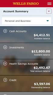 Wells Fargo Mobile screenshot thumbnail Real time