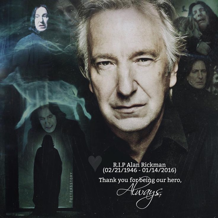 R.I.P. Alan Rickman. You will live forever in our hearts. :'(