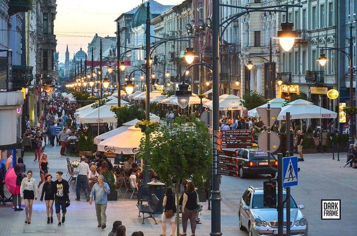 ŁÓDŹ, Piotrkowska Street Fot. Robert Zapędowski