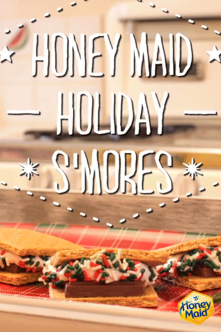 S'mores in December -- yes please! Check out our holiday twist on our Classic S'mores recipe. Just add sprinkles and you have the perfect dessert that even the kids can help bake!