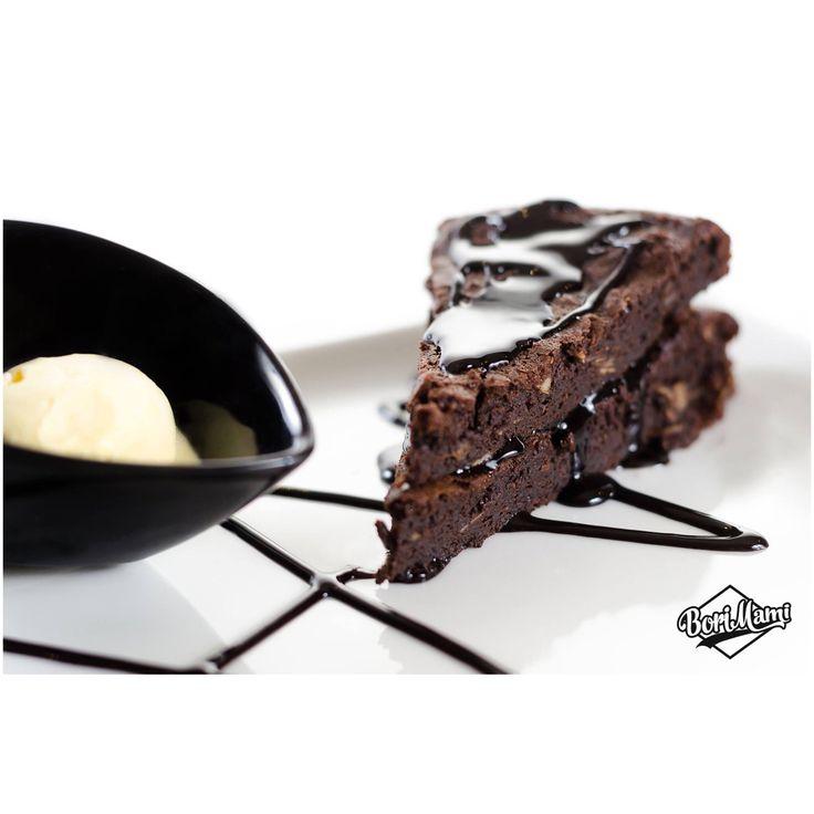 Mexican chocolatecake with chili & seasalt