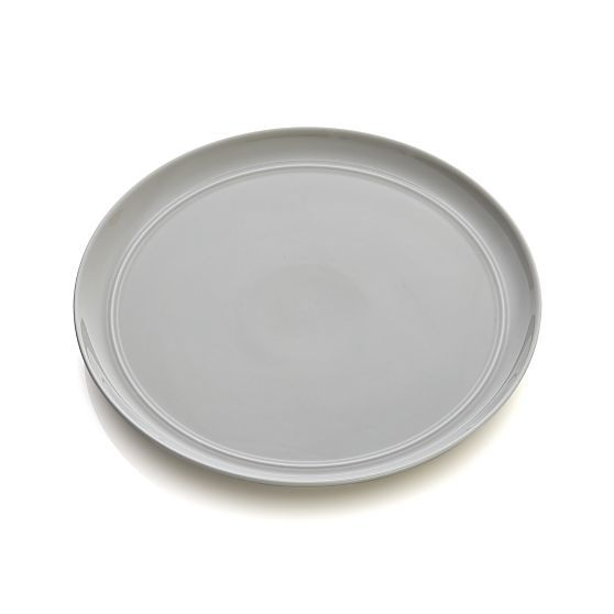 Hue Light Grey Dinner Plate | Crate and Barrel