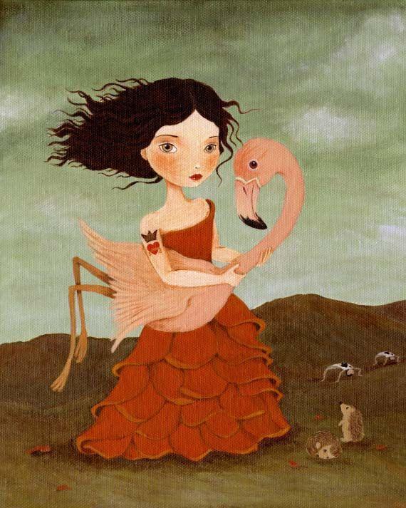 Alice In Wonderland Art, Children's Art, Girls Room Art, Girl Art Print, Girls Art, Poster, Art for Kids - The Red Queen 8x10 Print. $10.00, via Etsy.