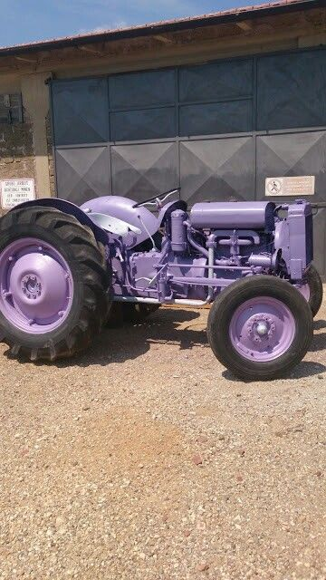 Purple tractor cool!
