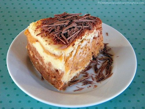 Layered Pumpkin Cheesecake with Belgium Chocolate by CinnamonKitchn ...