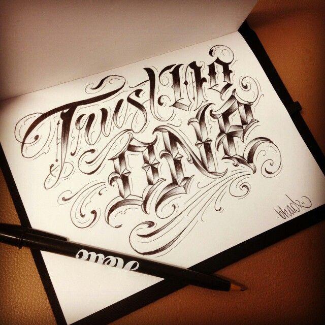 Trust No One Lettering Tattoos Tattoo Designs Tattoo Lettering