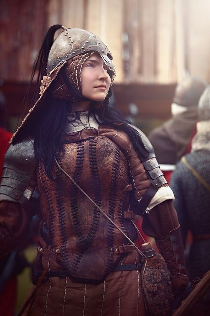 inmaledress:  woman in armour by succubinyc on Flickr.