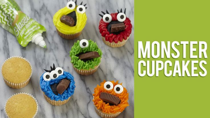 Mischief-makers find it hard to scream on Halloween when you stuff their faces with treats! The cupcake creatures are colorfully decorated with Wilton Icing ...