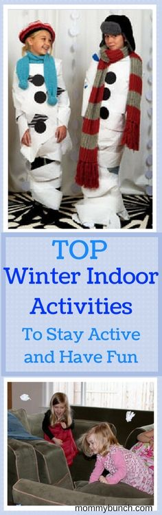 Best Winter Indoor Activities For Kids, including a fun Toilet Paper Mummy Game! Gross Motor Games and Creative Ideas For Winter (snow days!), Spring (rainy days!) or for when Cabin Fever strikes | The Best Active Indoor Activities for Kids - perfect for