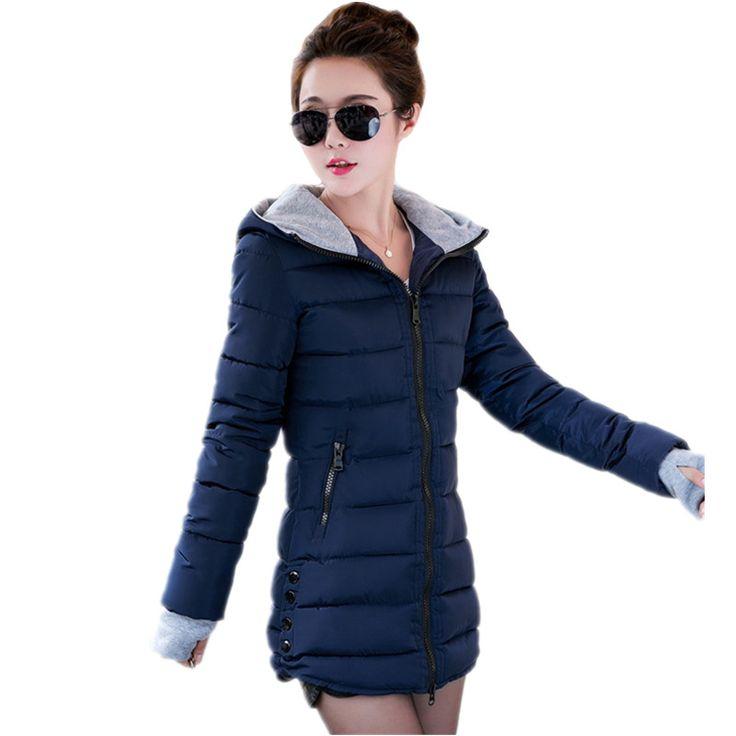 Goedkope 2016 Nieuwe Gewatteerd Jas Vrouwelijke Vrouwen Winter Jacket Down Katoen jas Slim Parka Dames Plus Size Womens Jassen TD2, koop Kwaliteit Naar beneden parka's& rechtstreeks van Leveranciers van China: