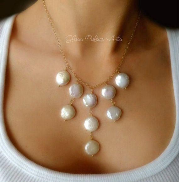 Declaración perla collar collar de perlas de por GlassPalaceArts