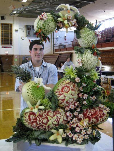 Food Art - Sculptures de Fruits et Légumes - John Montgomery