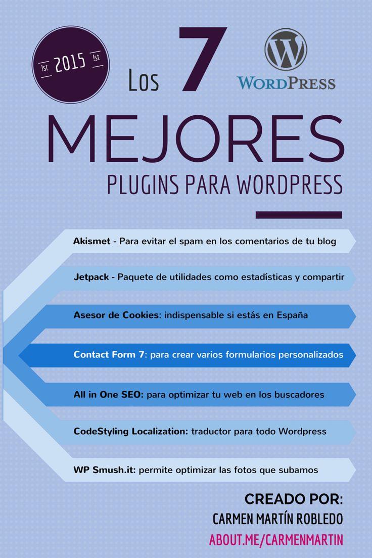 Los 7 mejores plugins para WordPress #infografia #infographic #socialmedia