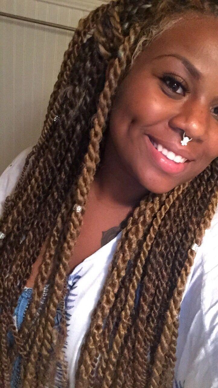 Blonde Light Brown Marley Twist Marley Braids Crochet