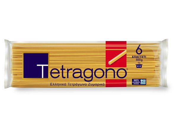 TETRAGONO square pasta made in Greece