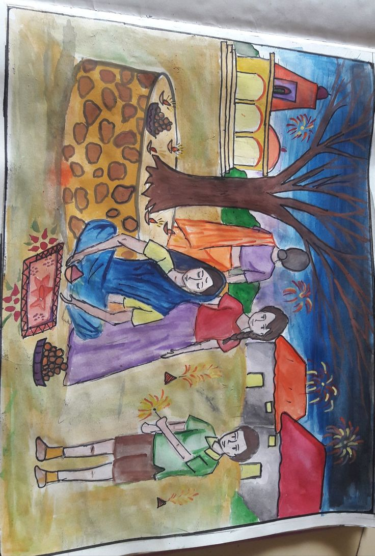 Diwali drawing for kid's