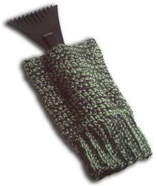 Crocheted version of the ice scraper mitt-free pattern..for we that are waist deep in snow