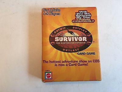 Survivor TV Show Card Game 2000 CBS Reality Mattel Complete