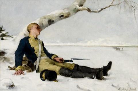 Helene Schjerfbeck, Haavoittunut soturi 1882