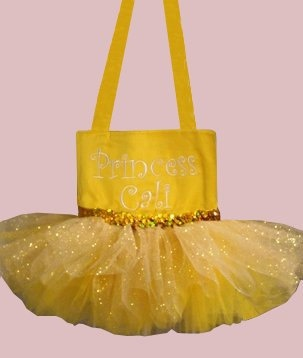 Belle Tutu Tote Bag Party Favor Gift Bag by SewPizazzed on Etsy,