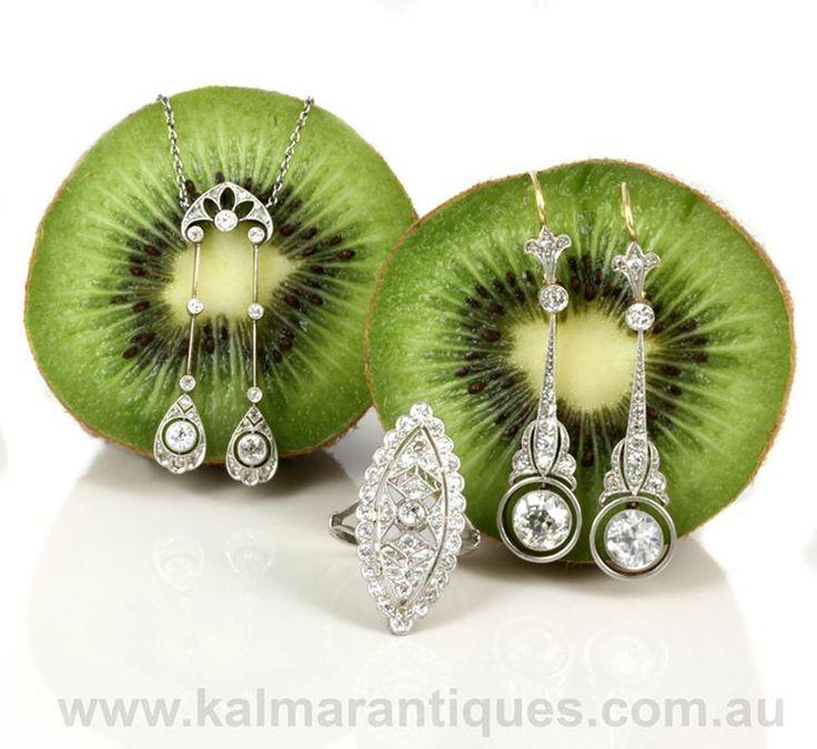 Kalmar Antiques (@kalmarantiques)  #Artdeco #Platinum #Diamond #Jewellery