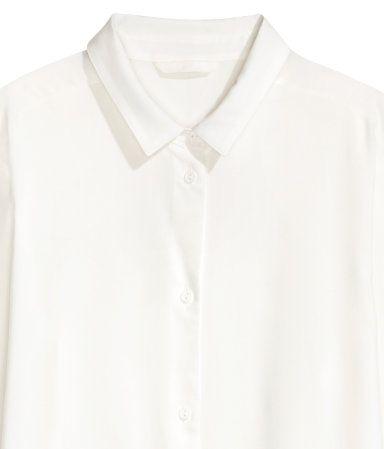 Longbluse   Weiß   Damen   H&M DE