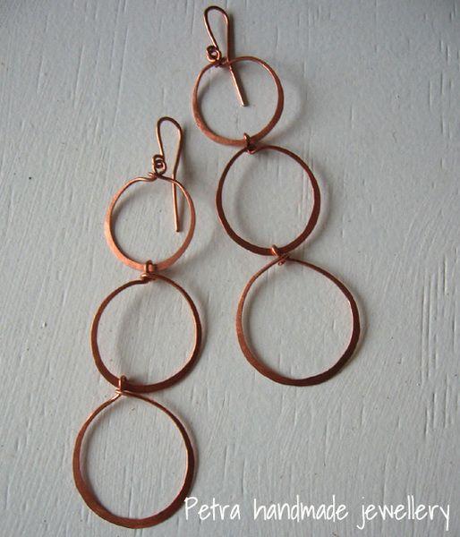 """orecchini """"3 circles"""" di Petra handmade jewellery su DaWanda.com"""