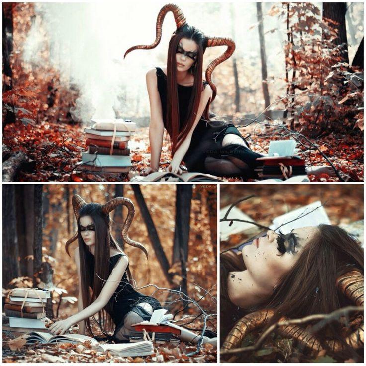 Сказочная идея для фотосессии  Фотограф: Veda Wildfire ✔#лес #сказка #фотоуроки…