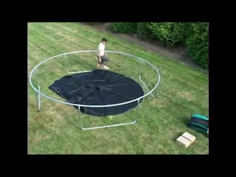 Super-Fun Trampoline Assembly - YouTube
