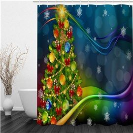 Quite Christmas Eve Waterproof Polyester Bathroom Shower Curtain Decor With Hook
