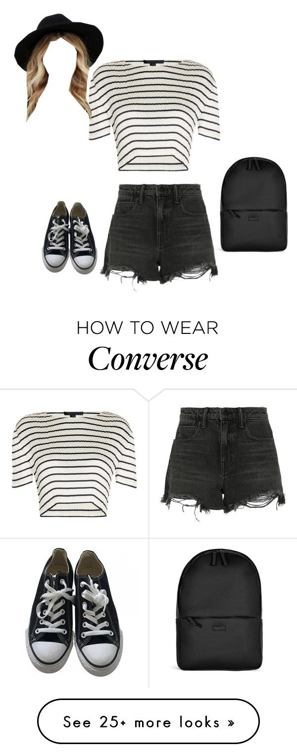 """Untitled #315"" by thelostandalone on Polyvore featuring Alexander Wang, Converse, Rains and RHYTHM"