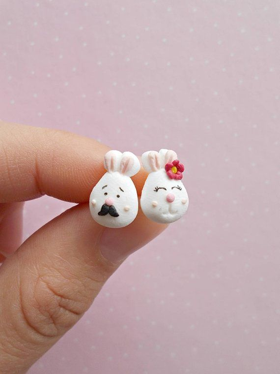 Easter bunny mismatched earrings!
