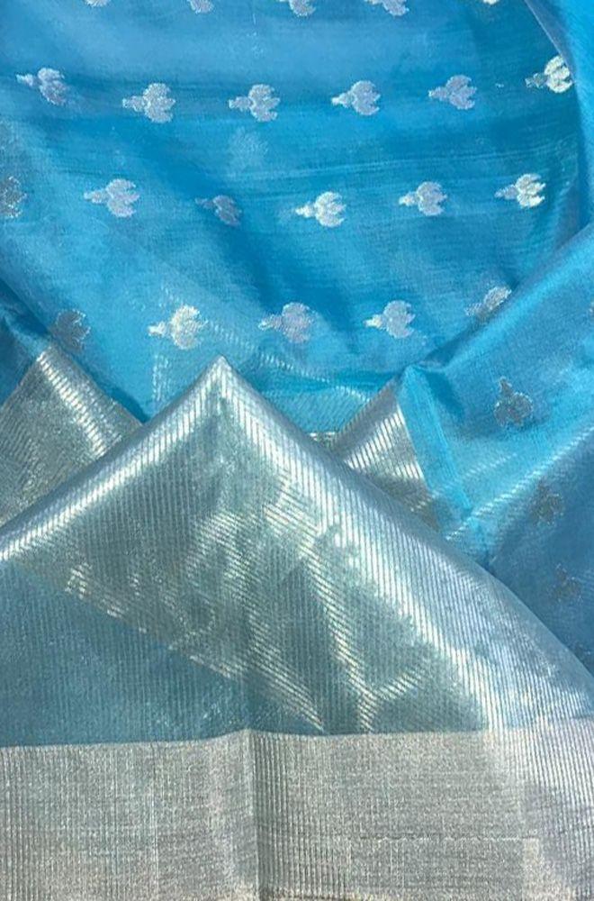 80572636a Buy online Blue Handloom Chanderi Silk Cotton Saree in 2019 ...