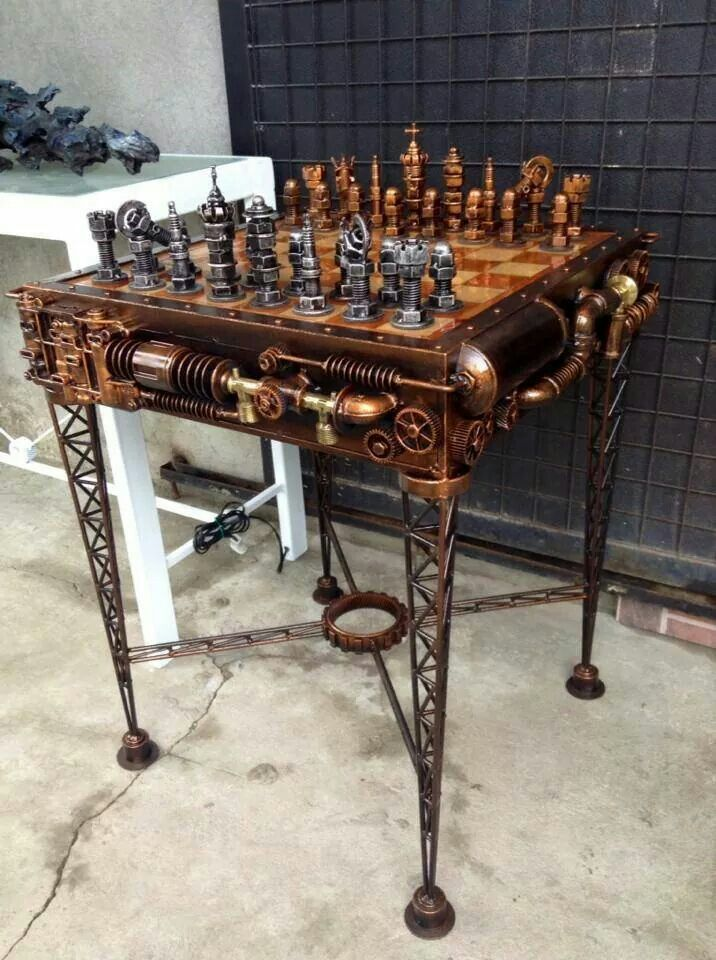 Amazing Steampunk Chess Set