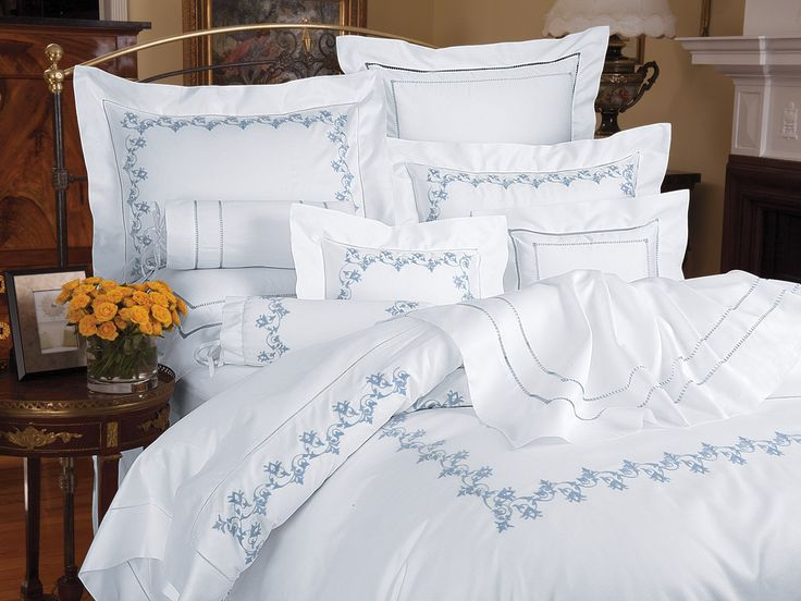 Flowering Vine - Luxury Duvet Covers - As impossible as it may seem when you see it with your own eyes, this exquisite vine motif is delicately embroidered totally by hand