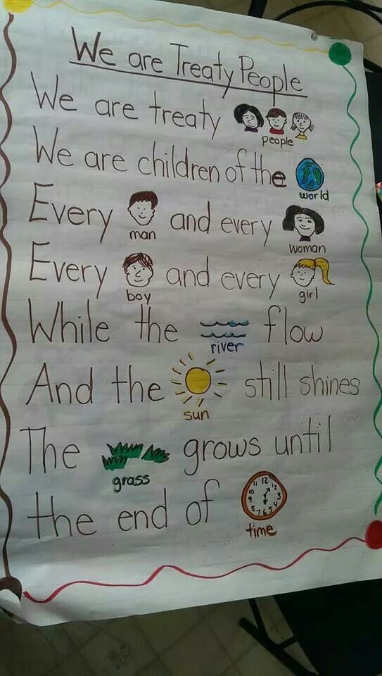 Image result for we are all treaty people for kids