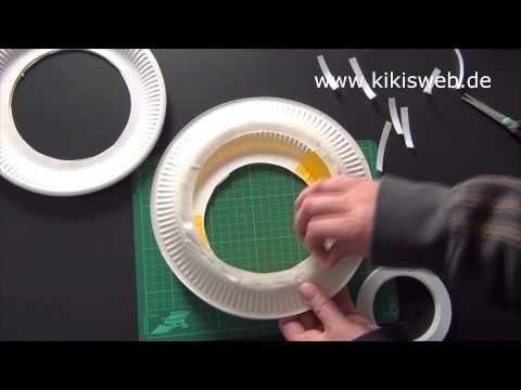Anleitung zu einfacher Laterne aus Papptellern
