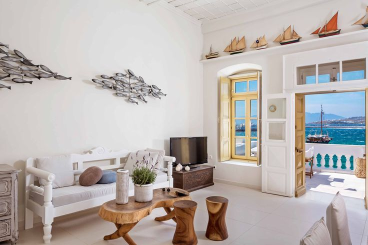 Kampani luxury apartment in Mykonos is a lovely bright and white vacation rental offering picture perfect views of the sea and only steps away of ...