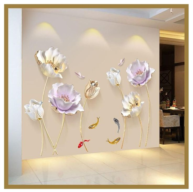 Chinese Style Flower 3D Wallpaper Wall Stickers