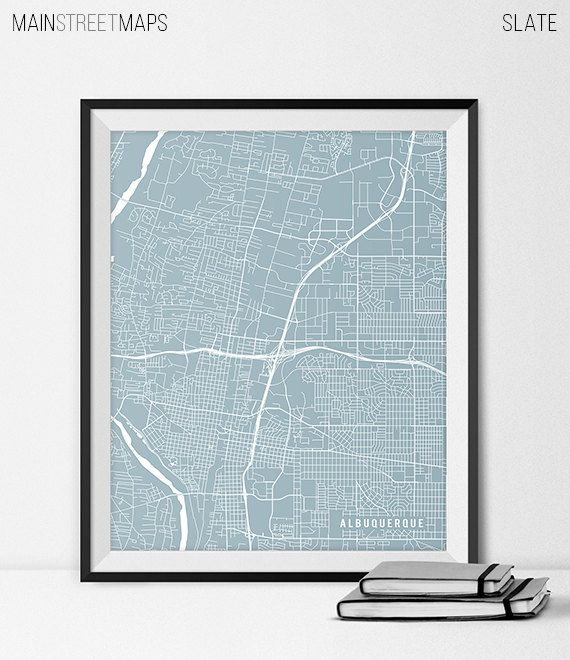 Albuquerque Map Print Albuquerque Poster of New by MainStreetMaps https://www.etsy.com/listing/226617003/albuquerque-map-print-albuquerque-poster?ref=shop_home_active_7