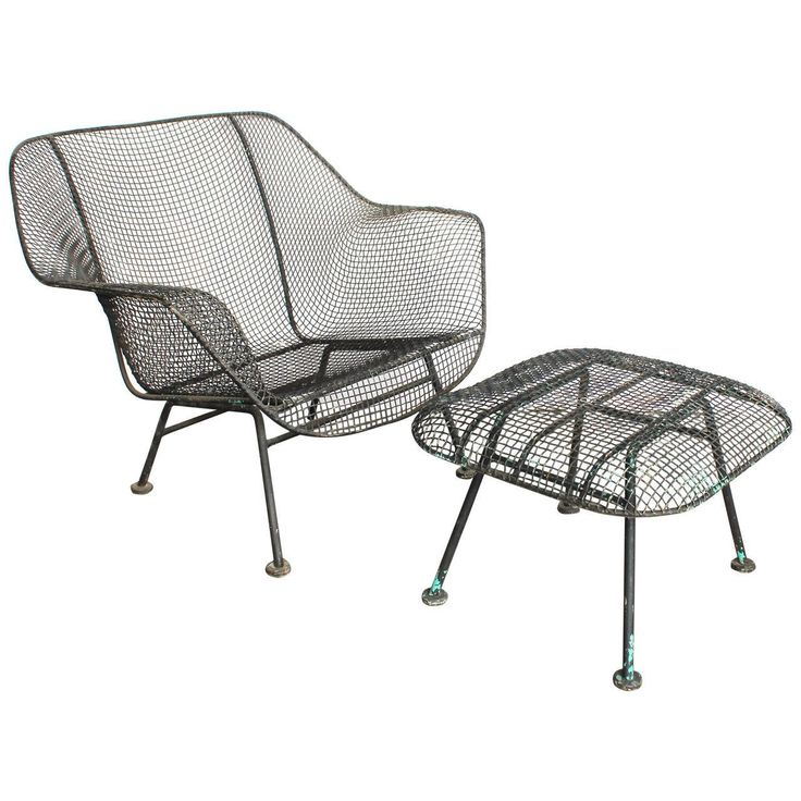 """Sculptura Garden Lounge Chair and Ottoman by Woodard  Ottoman measures: H 13"""", W 21"""", D 21"""". Lounge chair: 28 in.Hx33 in.Wx31 in.D $2500"""